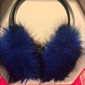 BLUE Juicy Couture Earmuffs headphones RARE